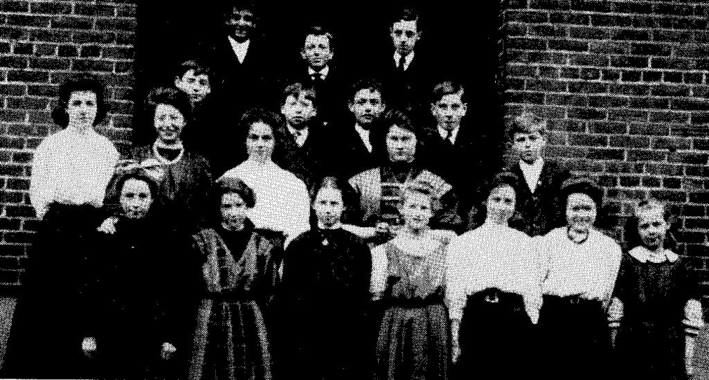 Seventh and Eighth Grade Class, 1908